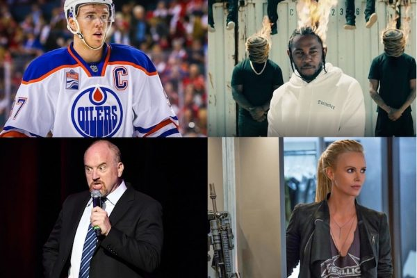 Above: The NHL playoffs, Kendrick Lamar, Louis CK and 'Fate of the Furious' are coming your way this month