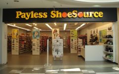 Above: The discount shoe store is facing closure after 60 years of operation
