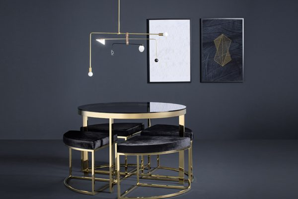 Above: Selections from designer Janette Ewen Art Deco-inspired collection for Mobilia
