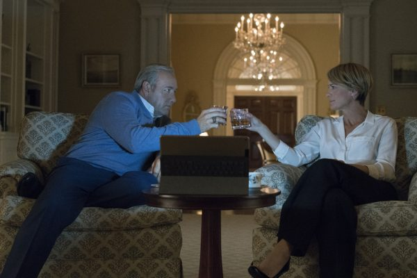 Above: Frank and Claire prepare for battle in the just-released trailer for House of Cards season 5
