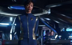 Above: Sonequa Martin is First Officer Michael Burnham
