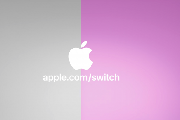 Above: Apple wants users to switch over to an iPhone