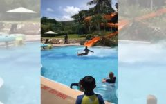 Watch A Man Glide Across Entire Pool From A Water Slide