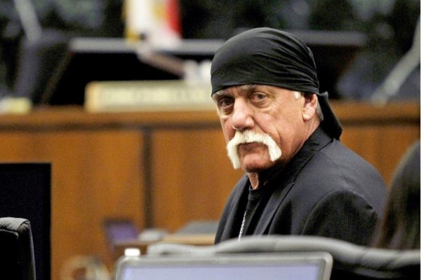 Above: Hulk Hogan appears in court last year