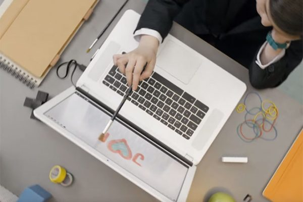 Above: The AirBar brings your MacBook screen to life