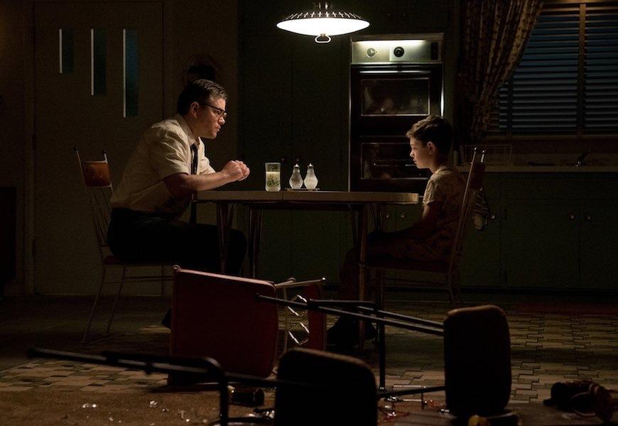 Above: Matt Damon and Noah Jupe in 'Suburbicon'