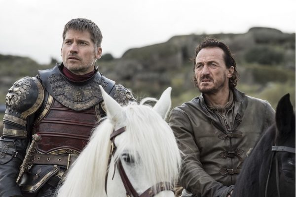 Above: Jaime Lannister and Bronn prepare for their biggest foe