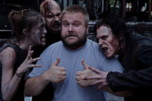 Above: 'The Walking Dead' creator and producer Robert Kirkman
