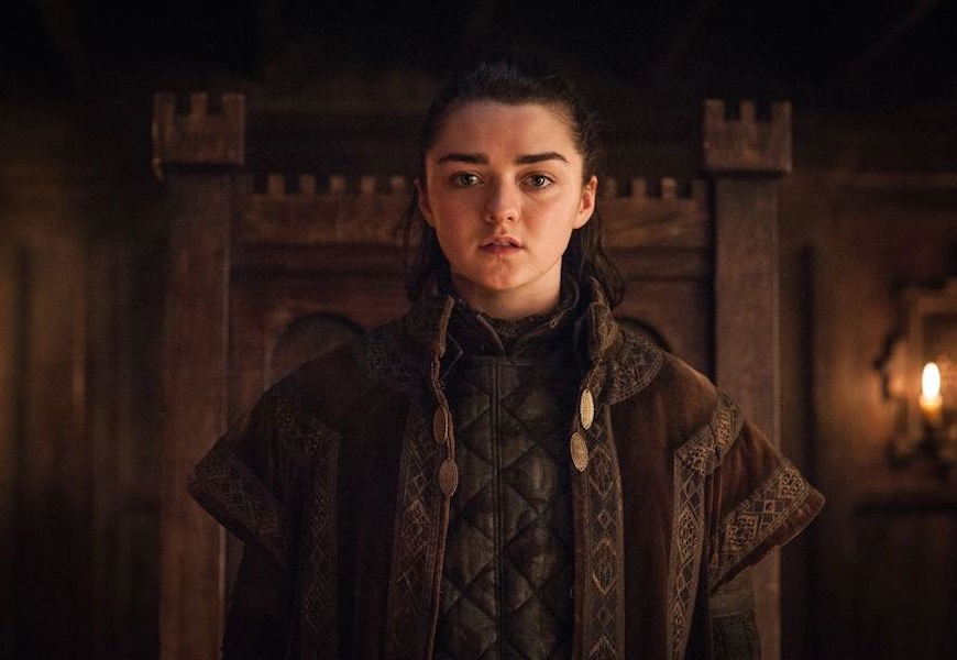 Above: Maisie Williams plays Arya Stark in 'Game of Thrones'