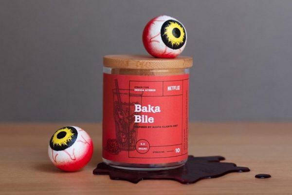 """Above: """"Baka Bile"""" strain inspired by 'Santa Clarita Diet'"""