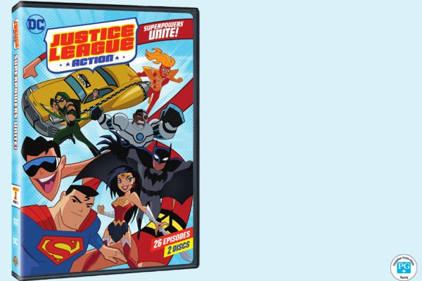 Enter For A Chance To Win DC JUSTICE LEAGUE ACTION: SUPERPOWERS UNITE!  On DVD