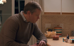 Above: Matt Damon and a tiny Jason Sudeikis star in 'Downsizing'