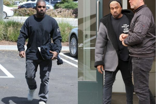 Above: Kanye West wears select pieces from Boot Boyz Biz