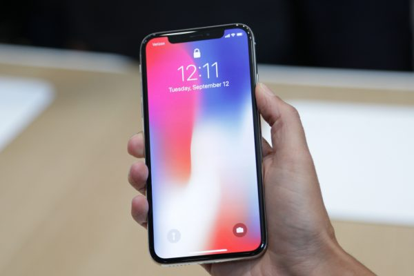 Above: The iPhone X was released on November 3, 2017