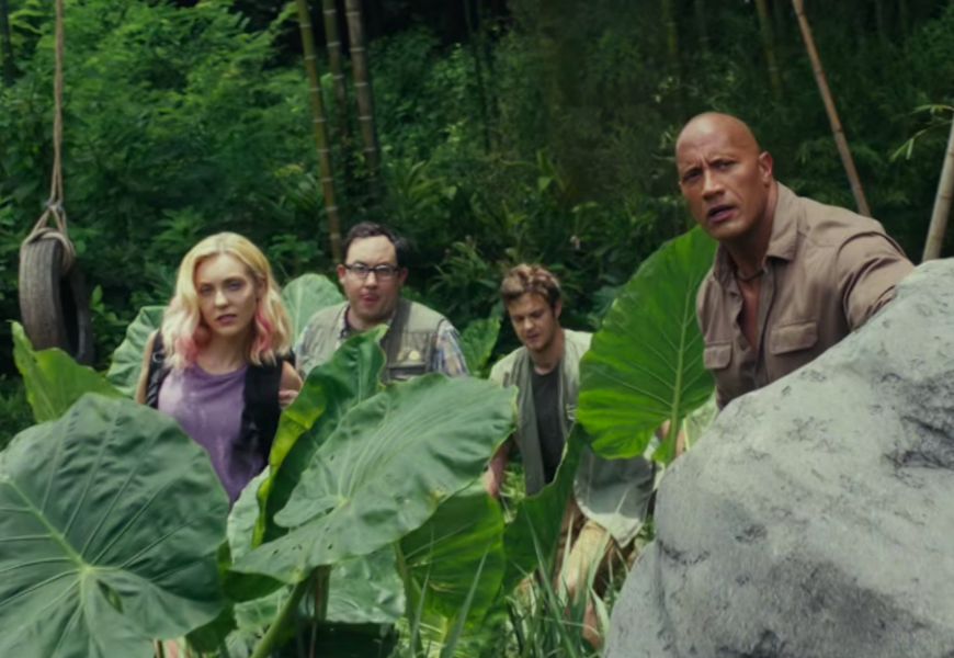 Above: The Rock leads a ragtag team in 'Rampage'
