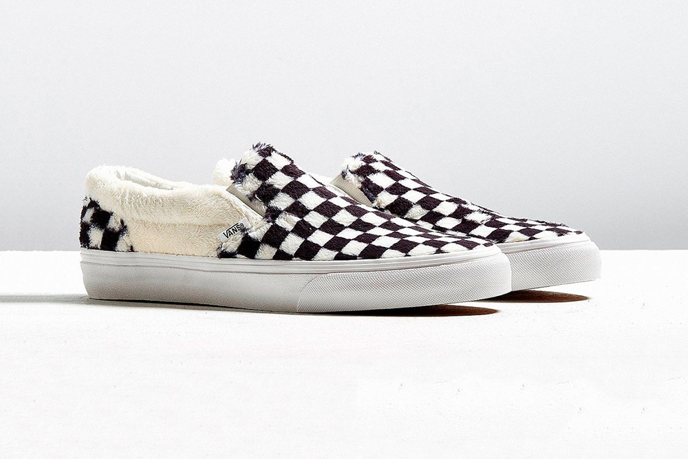 Above: The new Vans are outfitted with a fleece lining