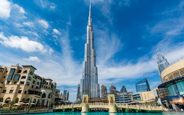 Above: The world's highest building: the Burj Khalifa
