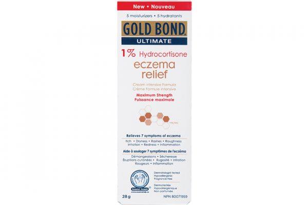 Above: Gold Bond's Ultimate 1% Hydrocortisone Eczema Relief Cream