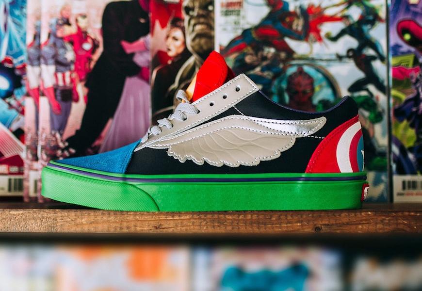 Above: Captain America, Spider-Man, and more adorn new Vans kicks