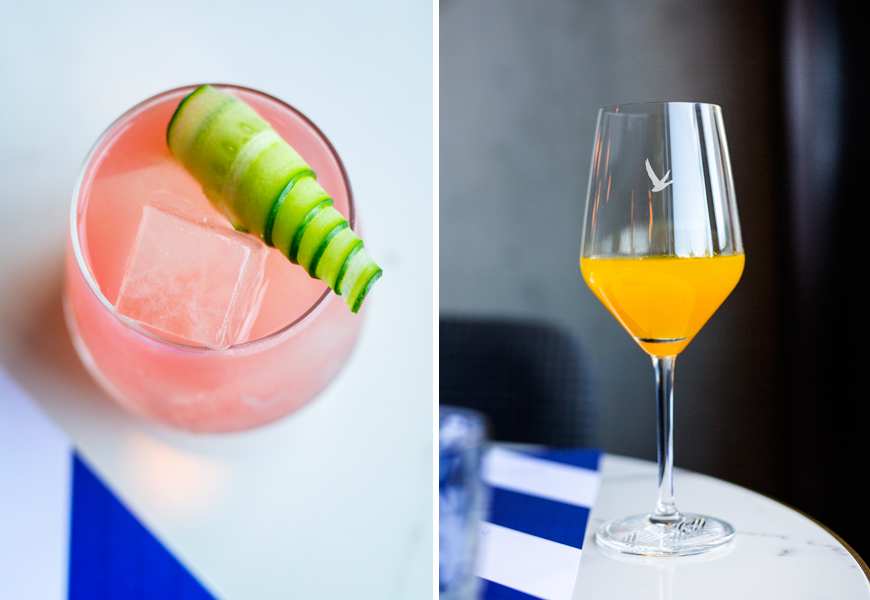 Above (L-R): The Silly Goose Cocktail and Les Baccahanales Cocktail