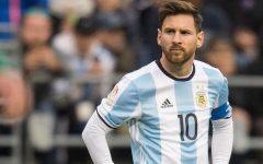 Above: Lionel Messi appears in one of his last FIFA World Cup matches