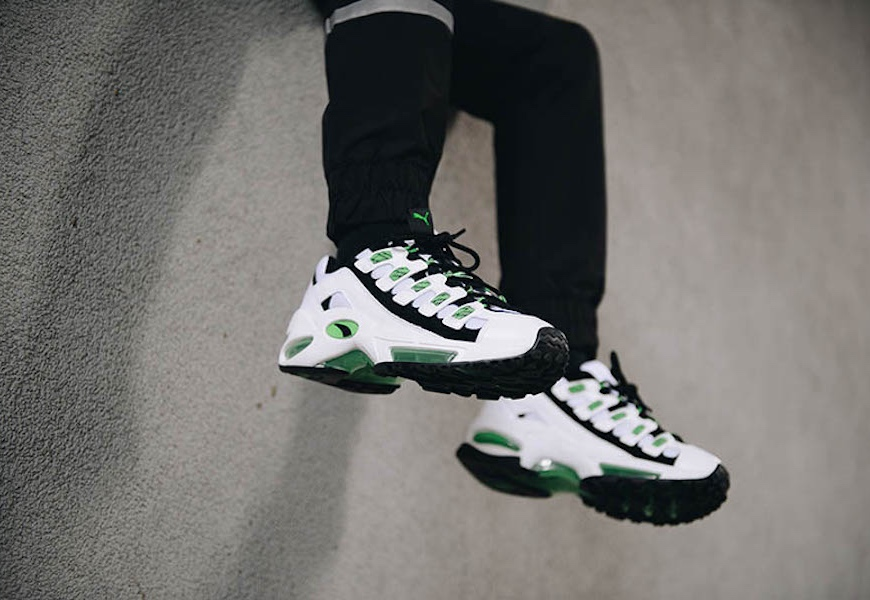 Above: The updated PUMA CELL Endura in its standard white and green colourway