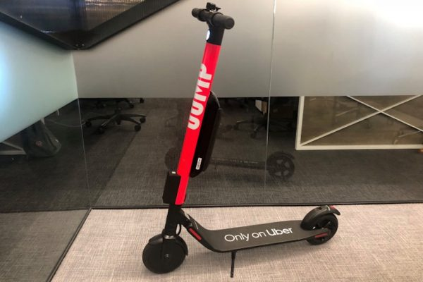 Above: The new JUMP electric scooter