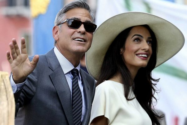 Above: George Clooney and Amal Alamuddin