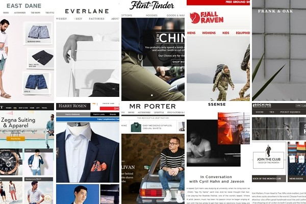 Above: 10 of our favourite online shops for men