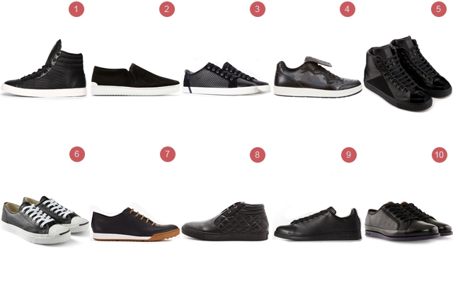 Above: 10 of our favourite black sneakers this season