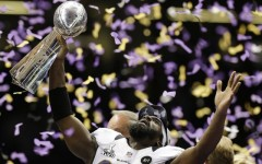 Above: The Baltimore Ravens triumph over the San Francisco 49ers in one of the most exciting Super Bowls in years
