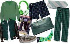 Above: Celebrate Irish culture by wearing these stylish green fashions