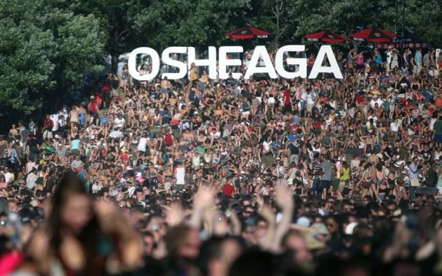 Above: The Osheaga Music and Arts Festival (Festival de la musique et des arts Osheaga) in Montreal, Quebec
