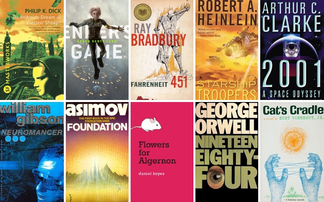 Above: 10 of our favourite science fiction novels