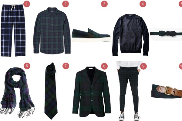 Above: A few of our favourite plaid pieces to wear this winter