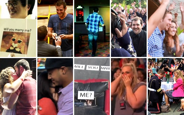 Above: 10 viral marriage proposals