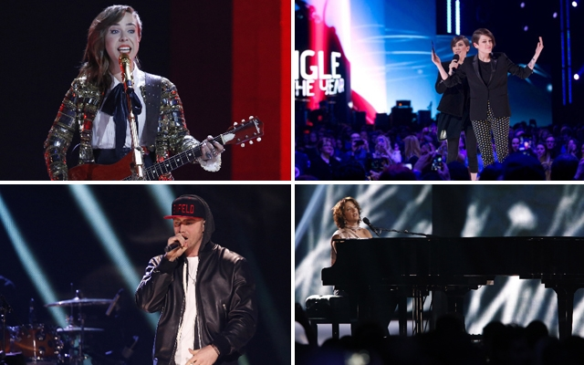 Above: Memorable moments from the 2014 Juno Awards at the MTS Centre, Winnipeg, Manitoba (Photos: CARASiPhoto)
