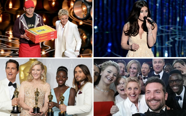 Above: Memorable moments from the 2014 Oscars