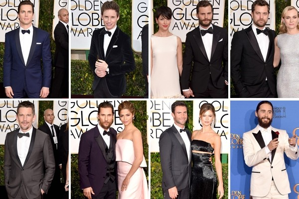 Above: 8 gents who made a statement on the red carpet of the 2015 Golden Globes