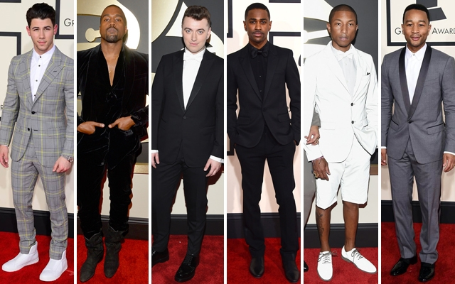 Above: 6 gents who made a statement on the red carpet of the 2015 Grammy Awards