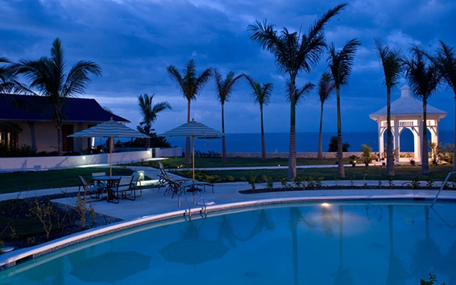 Above: The Moon Dance Cliffs Hotel & Spa which is perched on the westernmost edge of Jamaica