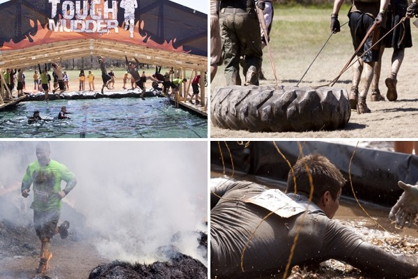 Above: Images from a Tough Mudder obstacle course (Photos: Glynnis Jones/Shutterstock)