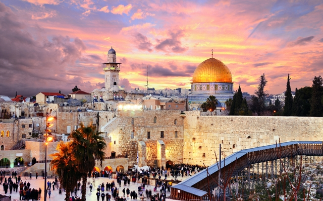 Above: Skyline of the Old City at the Western Wall and Temple Mount in Jerusalem, Israel. (Photo: Sean Pavone/Shutterstock)