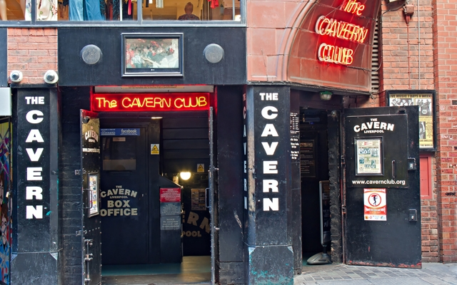 Above: The entrance to the Cavern Club in Mathew St, Liverpool