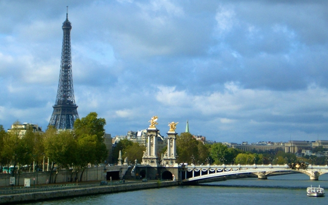 Above: The Eiffel Tower across the Seine (Photo: Amy Laughinghouse)