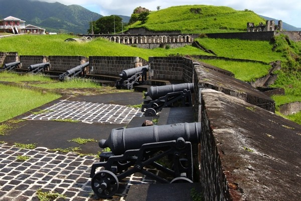 Above: Cannons at Brimstone Hill Fortress in St. Kitts (Photo: Jason Patrick Ross/Shutterstock)