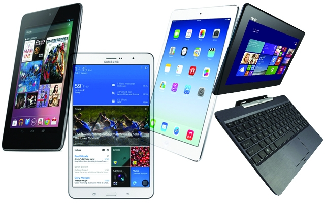 Above: 4 of the top tablets on the market right now