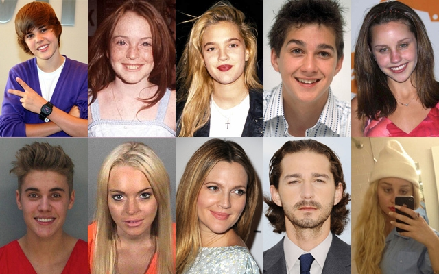 Above: 5 child stars before and after their very public melt-downs