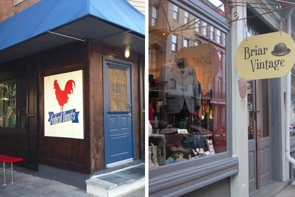 Above: Federal Donuts and Briar Vintage are recommended stops when visiting Philly