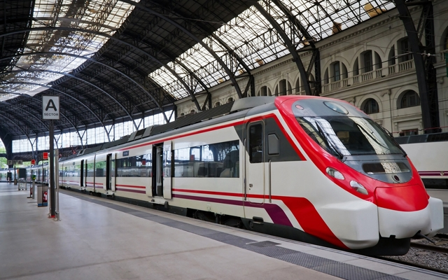 Above: A train at the station in Barcelona, Spain (Photo: Shutterstock/Pagina)